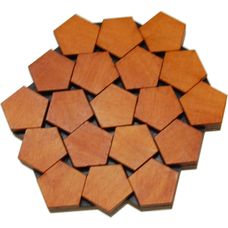 Floor, remove and replace the middle seven pentagons