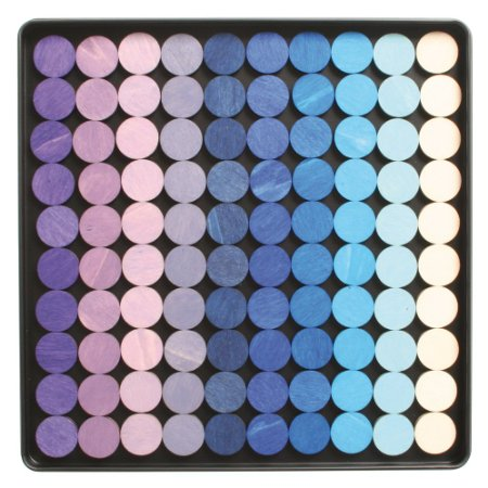 magnetic dots in shades and tints of blue