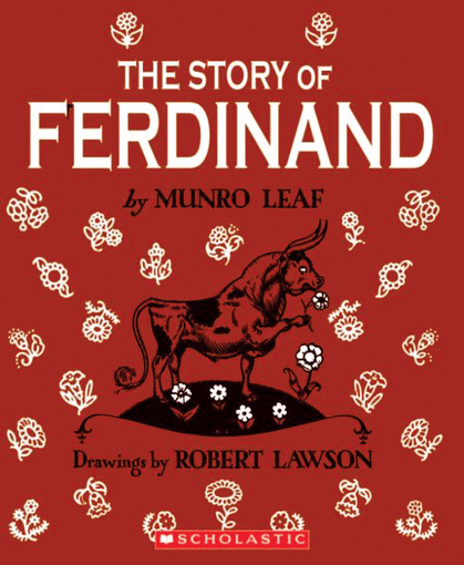 Ferdinand, a peaceful bull gets stung by a bee at the very moment they're looking for the meanest bull for a bullfight. Ferdinand's day in the arena gives readers not only an education in the historical tradition of bullfighting, but also a lesson in nonviolent tranquility.
