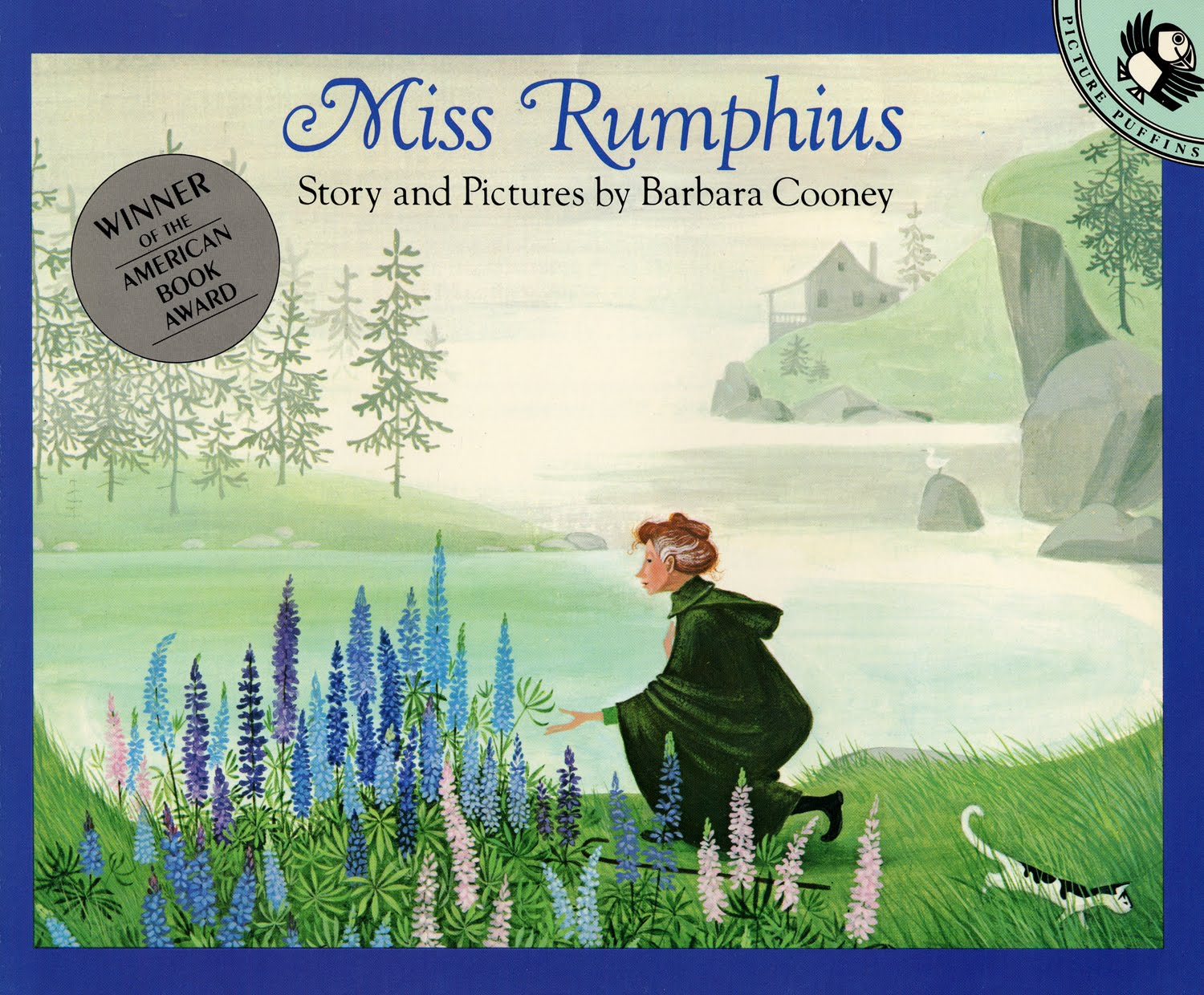 The countless lupines that bloom along the coast of Maine are the legacy of the real Miss Rumphius, the Lupine Lady, who scattered lupine seeds everywhere she went.