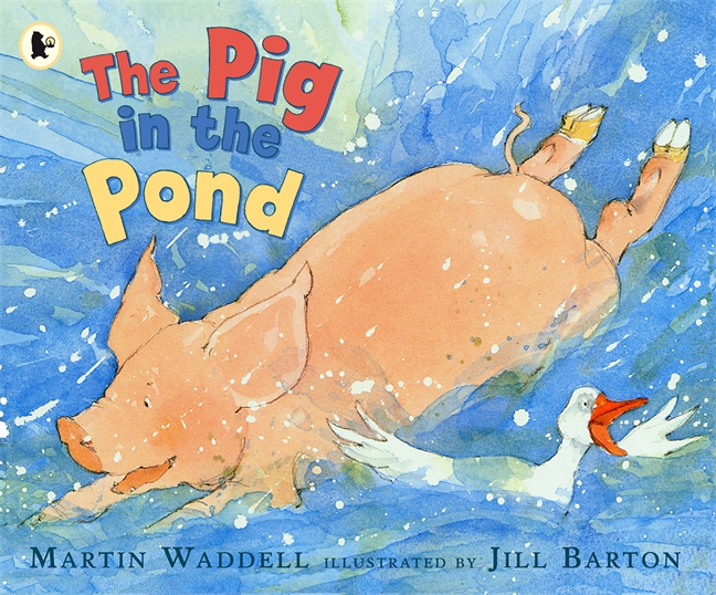 It's a very hot day when the pig's decision leads everyone into the pond.
